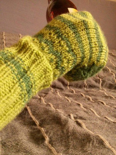 Beer Mitten Green bottom